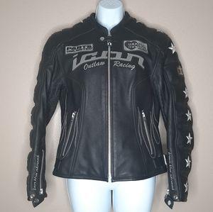ICON OUTLAW RACING leather motorcycle jacket